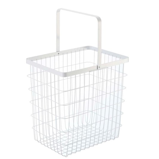 Yamazaki Tower Laundry Wire Basket Medium White