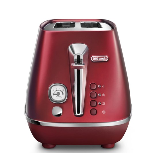 DeLonghi Destinta Flair Two Slice Toaster Glamour Red