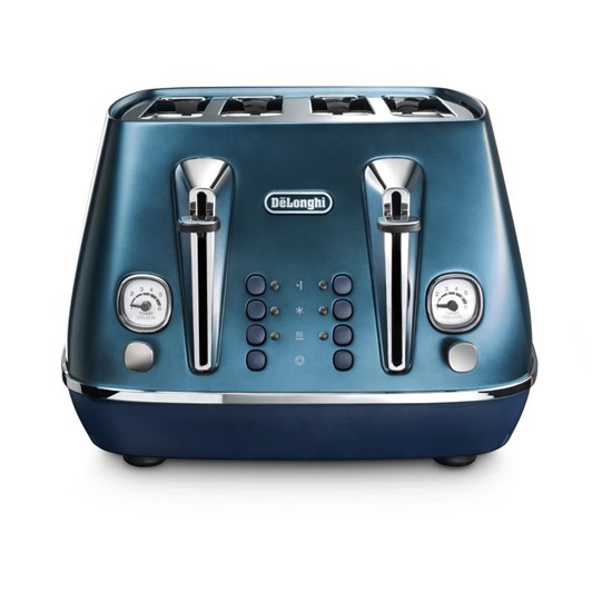 DeLonghi Destinta Flair Four Slice Toaster Prestige Blue