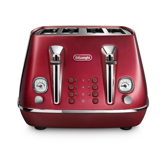 DeLonghi Destinta Flair Four Slice Toaster Glamour Red