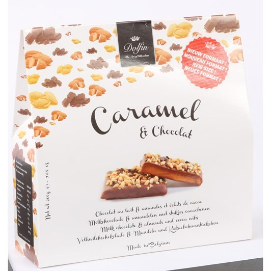 Dolfin Milk Chocolate Caramels With Almonds And Cocoa Nibs 200g