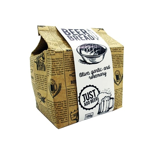 Eat.Art Beer Bread Bag - Rosemary Olive & Garlic 500g