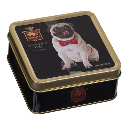 Stewarts Black Pug Tin Luxury Fudge 100g