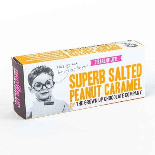 The Grown Up Chocolate Company Superb Salted Peanut Caramel 70g