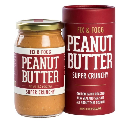 Fix and Fogg Peanut Butter Super Crunchy Gift Canister 375g