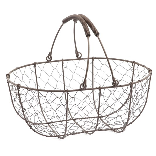 Metal And Wire Mesh Basket