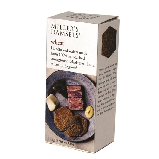 Millers Damsels Artisan Biscuits Wheat Wafers 125g