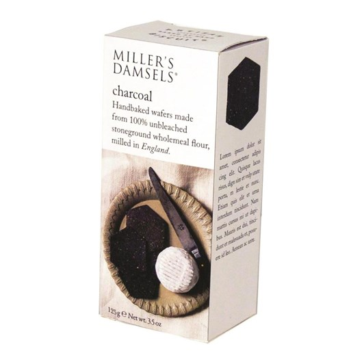 Millers Damsels Artisan Biscuits Charcoal Wafers 125g