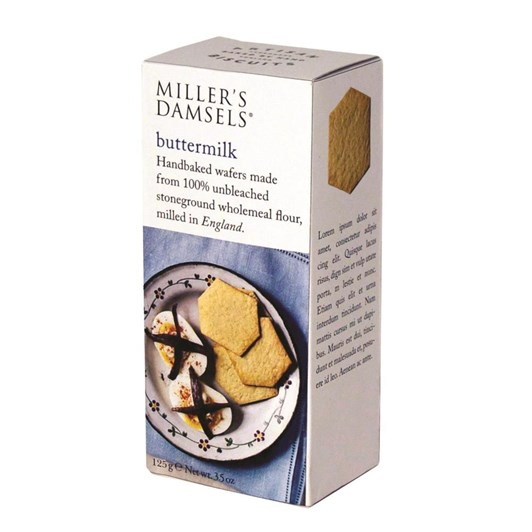 Millers Damsels Artisan Biscuits Buttermilk Wafers 125g