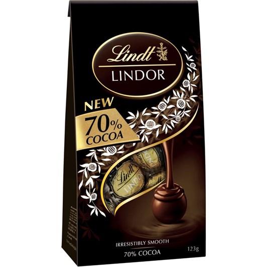 Lindt Lindor 70% Cocoa 123g