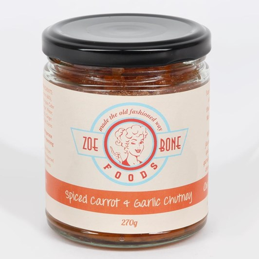 Zoe Bone Spiced Carrot & Garlic Chutney 270g