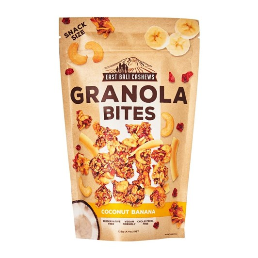 East Bali Cashews Granola Bites  Coconut Banana 125Gm