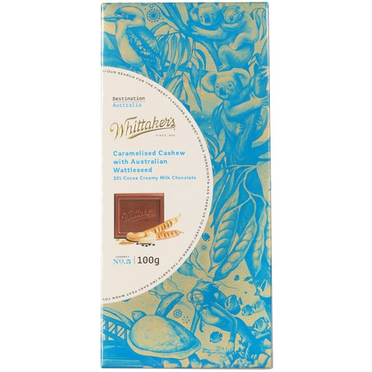 Whittakers Caramelised Cashew with Australian Wattleseed
