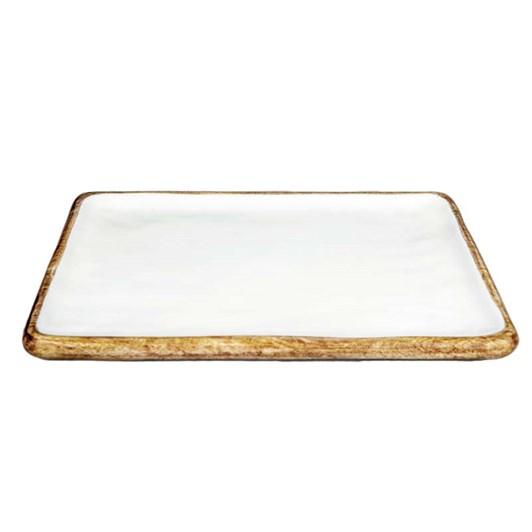 Madras Palermo Natural/White Medium Rectangular Platter 40x28