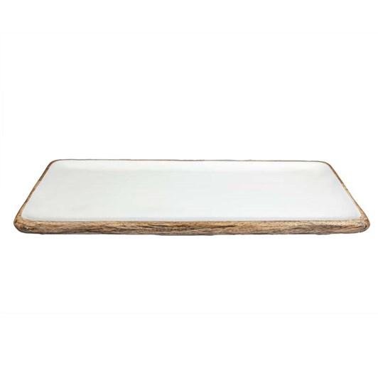 Madras Palermo Natural/White Large Rectangular Platter 60x23