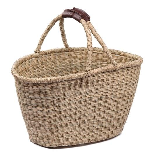 Oval Shopper Seagrass Drop Handle Basket