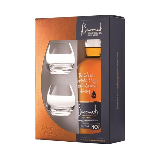 Benromach 10 Years Old Gift Pack With 2 Glasses