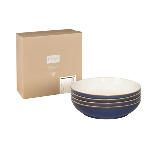 Denby Imperial Blue 4 Piece Pasta Bowl Set -
