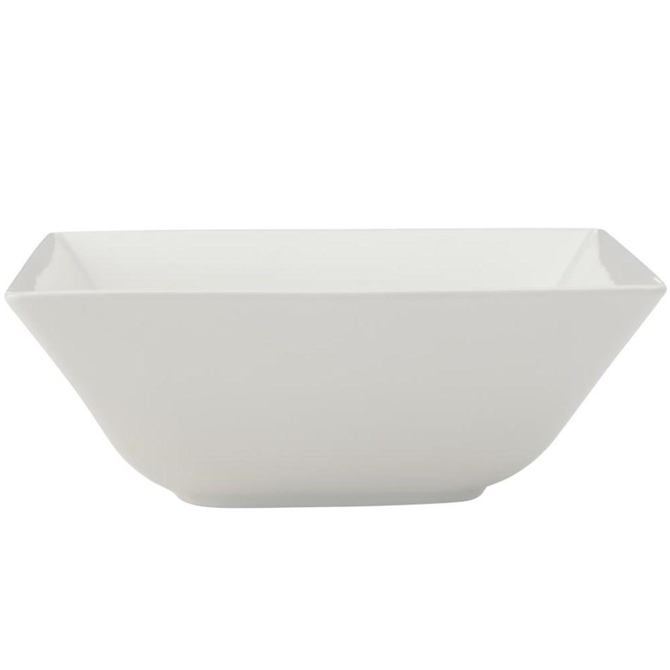 Maxwell & Williams White Basics Linear Square Bowl 18cm                     -