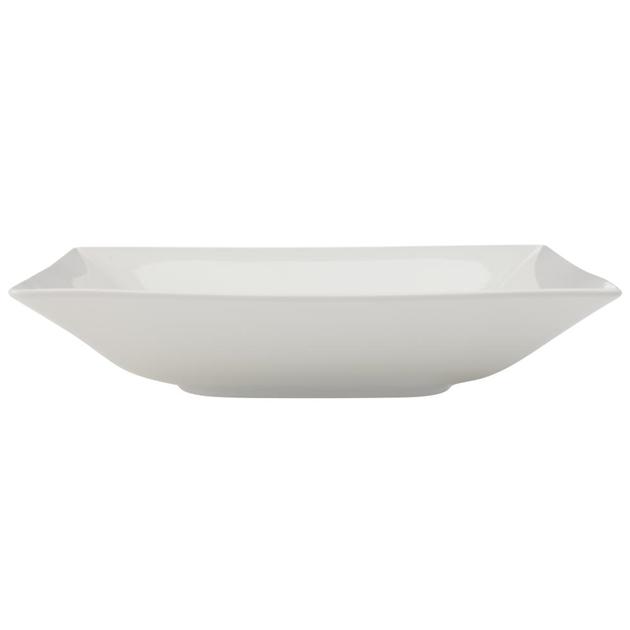 Maxwell & Williams White Basics Linear Square Shallow Serving Bowl 26cm Gif -
