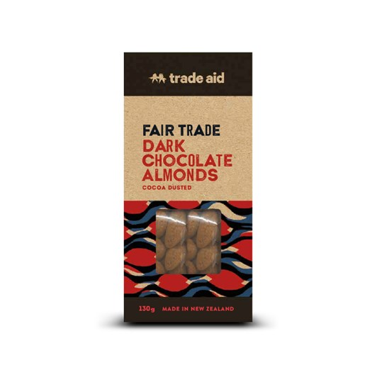 Trade Aid 55% Dark Chocolate Coated Almonds 130g