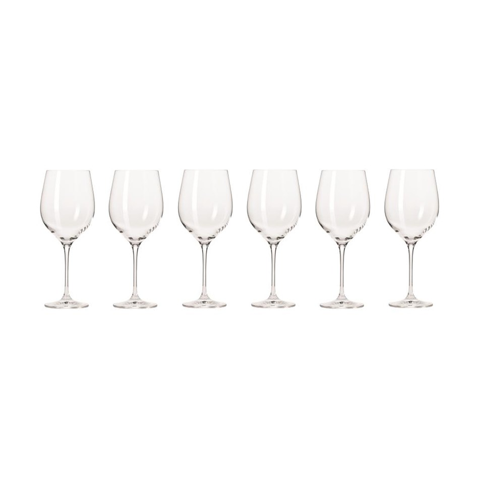 Krosno Harmony Wine Glass 450ml Set Of 6 Gift Boxed -