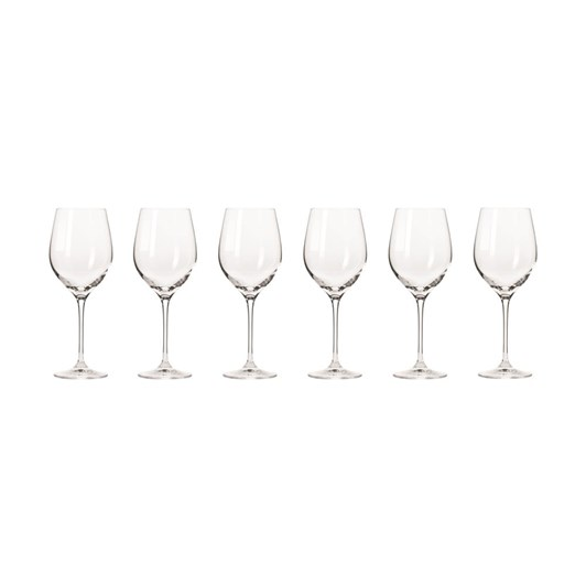Krosno Harmony Wine Glass 370ml Set Of 6 Gift Boxed