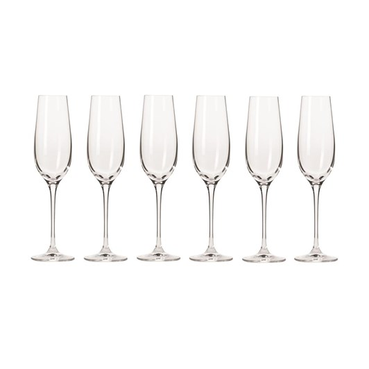 Krosno Harmony Champagne Flute 180ml Set Of 6 Gift Boxed