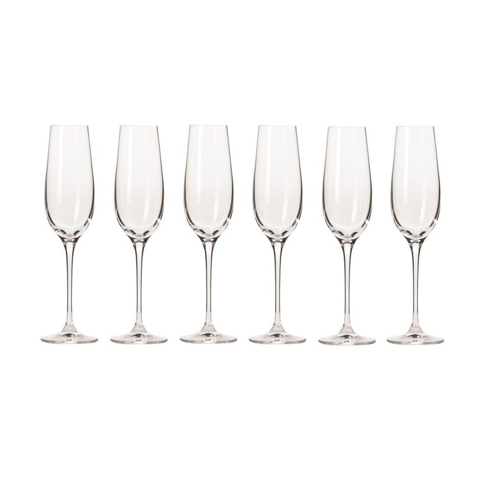 Krosno Harmony Champagne Flute 180ml Set Of 6 Gift Boxed -