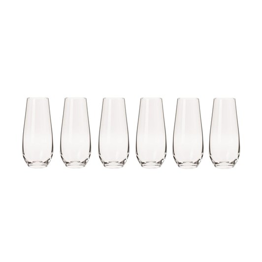 Krosno Harmony Stemless Flute 230ml Set Of 6 Gift Boxed