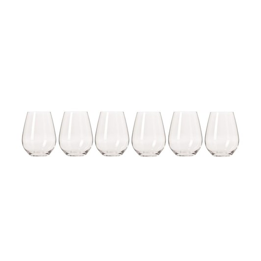 Krosno Harmony Stemless Wine Glass 400ml Set Of 6 Gift Boxed