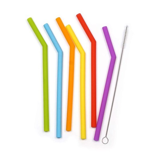 RSVP Sili Straws And Cleaner Pack Of 6 25cm
