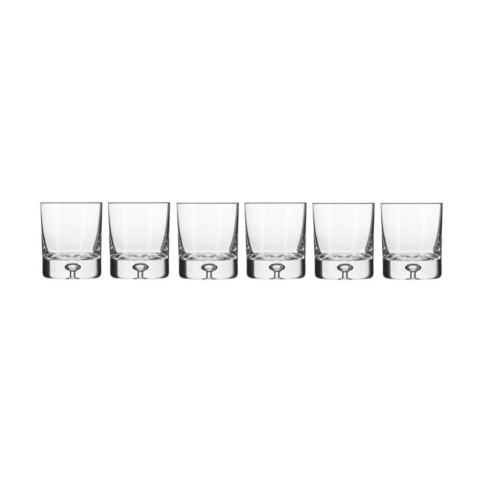 Krosno Legend Whisky Glass 250ml 6Pc Gift Boxed -