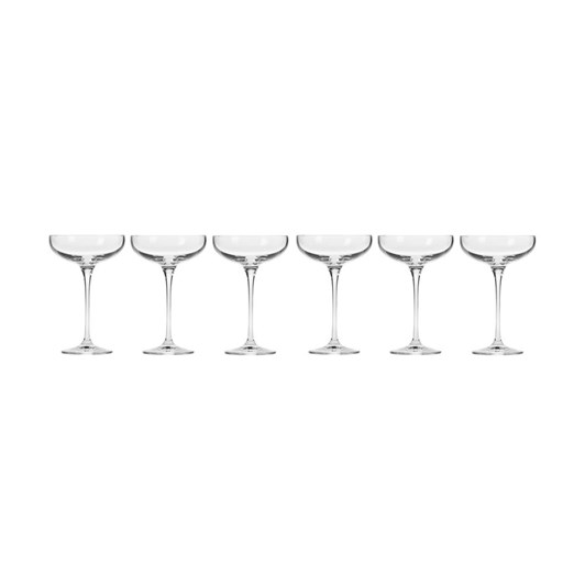 Krosno Harmony Champagne Coupe 240ml 6Pc Gift Boxed