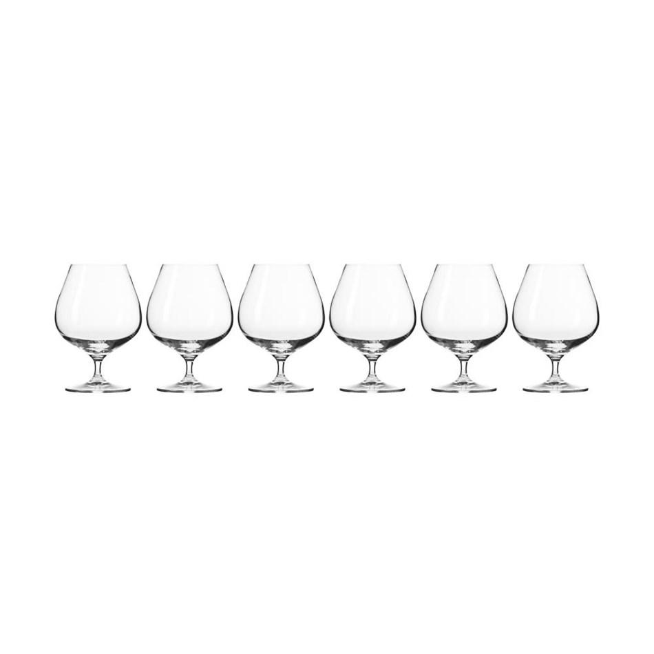 Krosno Harmony Cognac Glass 550ml 6Pc Gift Boxed -