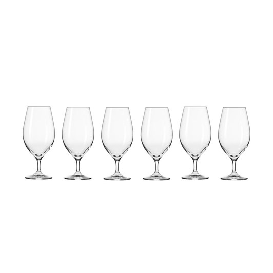 Krosno Harmony Beer Glass 400ml 6Pc Gift Boxed