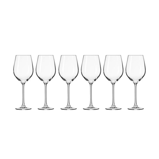 Krosno Splendour Wine Glass 500ml 6Pc Gift Boxed