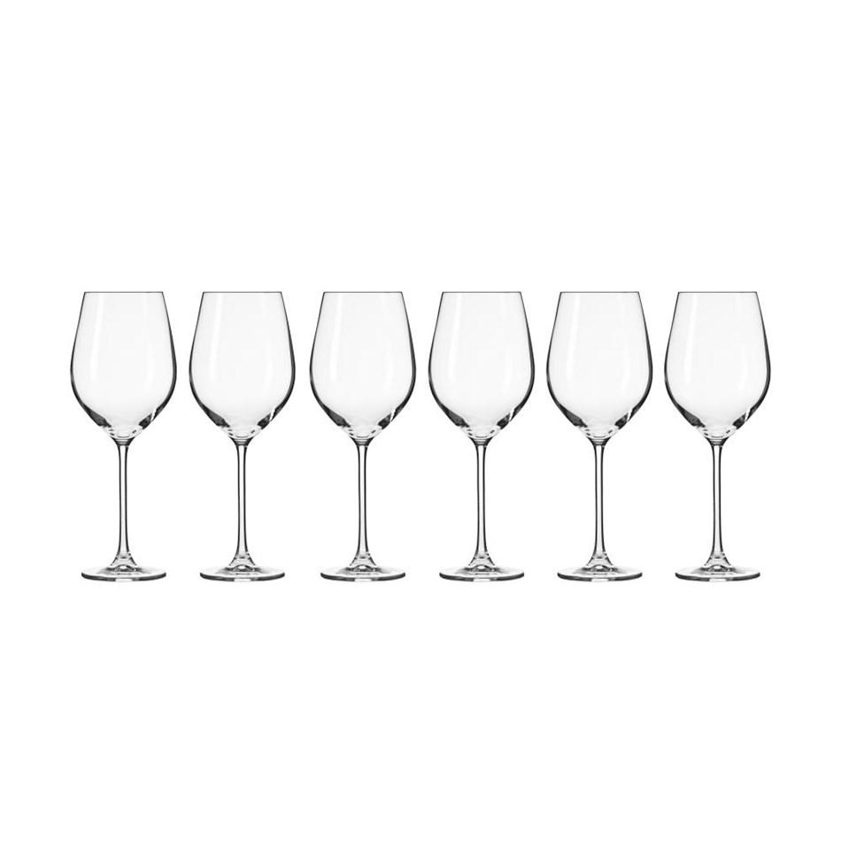 Krosno Splendour Wine Glass 500ml 6Pc Gift Boxed -