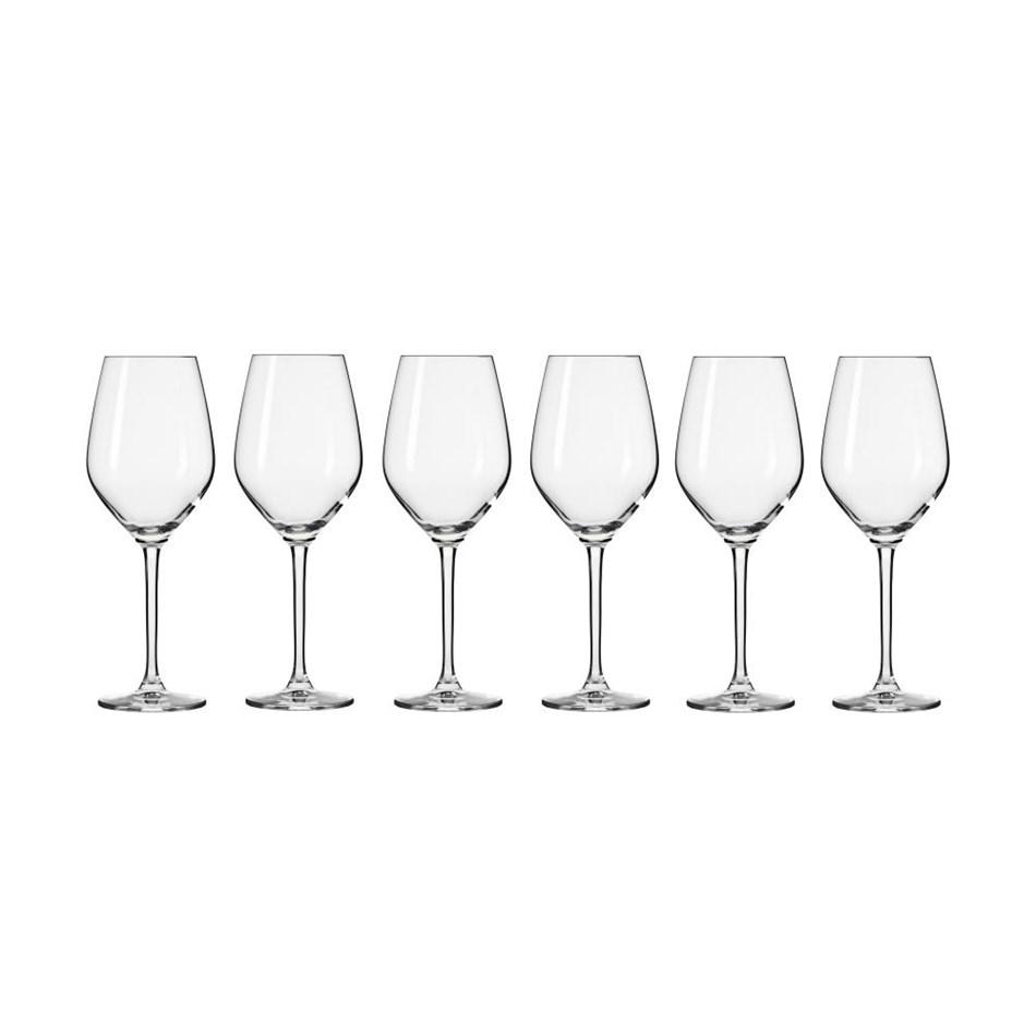 Krosno Splendour Wine Glass 300ml 6Pc Gift Boxed -