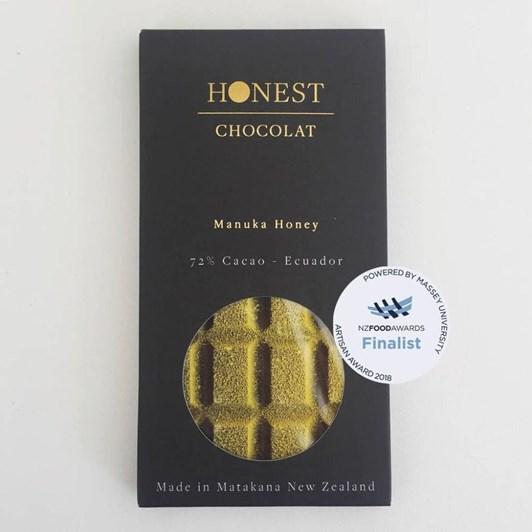 Honest Chocolat 72% Manuka Honey