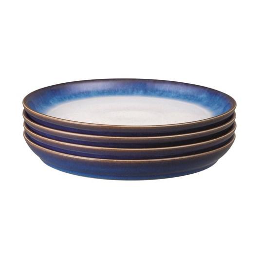 Denby Blue Haze Coupe Dinner Set Of 4