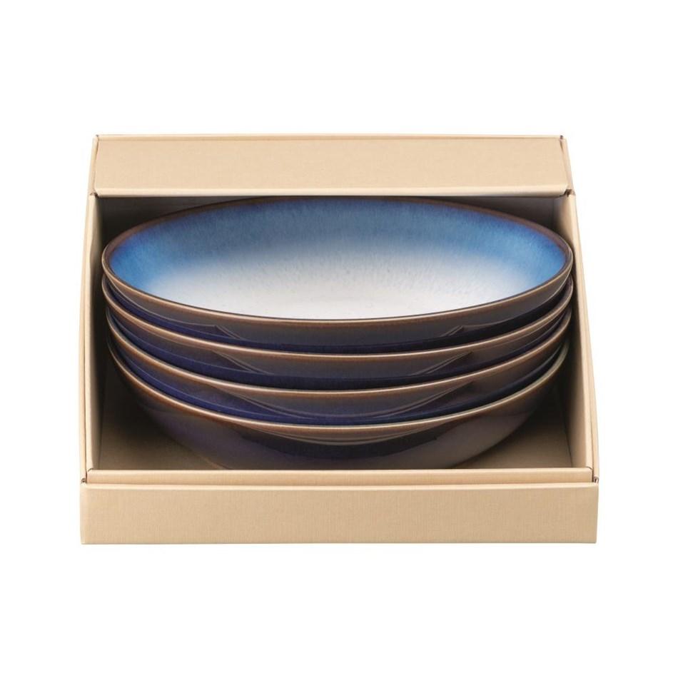 Denby Blue Haze Pasta Bowl Set Of 4 -