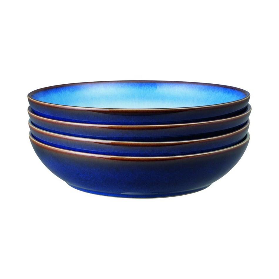 Denby Blue Haze Pasta Bowl Set Of 4 - blue haze