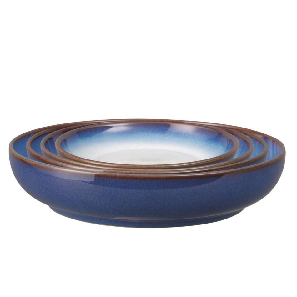 Denby Blue Haze Nesting Bowl Set Of 4 -