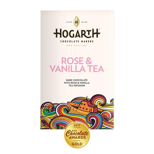 Hogarth Rose And Vanilla Tea 70% 70g