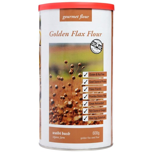 Waihi Bush Organic Farm Golden Flax Flour 600g
