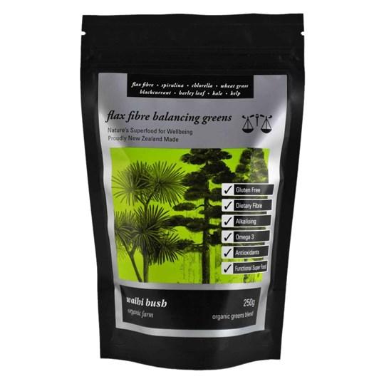 Waihi Bush Flax Fibre Balancing Greens Smoothie Blend 250g