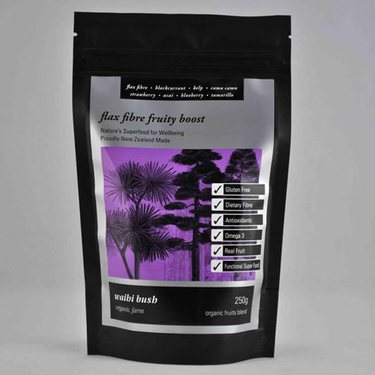 Waihi Bush Flax Fibre Fruity Boost Smoothie Blend 250g