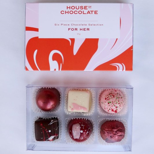 House of Chocolate For Her 6 Piece Chocolate Selection