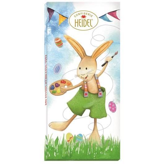 Heidel Easter Greetings Milk Chocolate Bar 100g